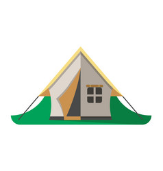 travel tent icon isolated vector image