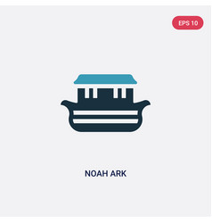 Two color noah ark icon from religion concept vector