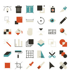 Ui design tools vector