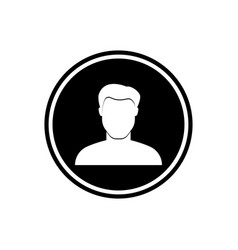 user round flat icon young man icon vector image