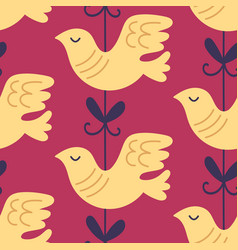 valentine dove bird seamless pattern vector image