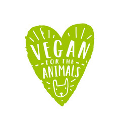 vegan for animals vector image