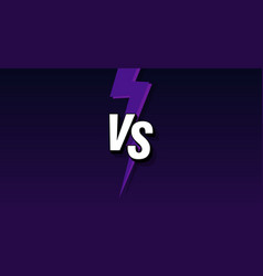 vs letters on ultraviolet background vector image
