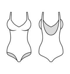 woman swimming suit line style swimsuit vector image