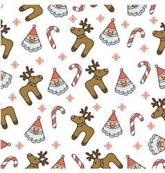wrap cloth seamless texture for Christmas vector image