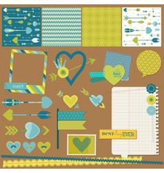 Scrapbook Design Elements - Love Heart and Arrows vector image vector image