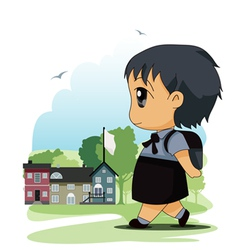 Children to school vector image