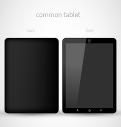 Common Black tablet vector image