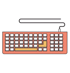 silhouette color section of computer keyboard vector image vector image