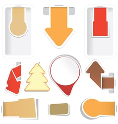 sticker arrow tags collection vector image