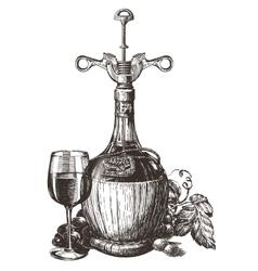 wine logo design template grape or drink vector image vector image