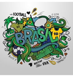 Brazil Summer and doodles elements vector image