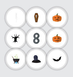 flat icon festival set of superstition magic vector image