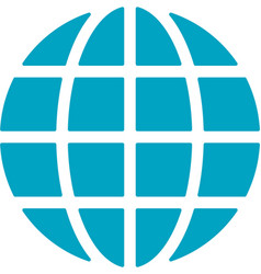 global network icon vector image