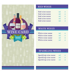 Wine Card template vector image