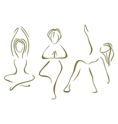 Yoga training vector image