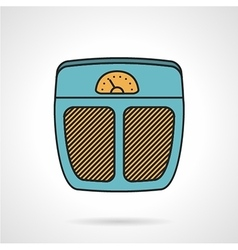 Flat colored icon for floor scales vector image