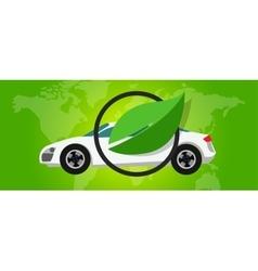 hydrogen fuel cell car eco environment friendly vector image vector image