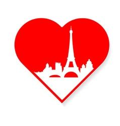 i love Paris template vector image vector image