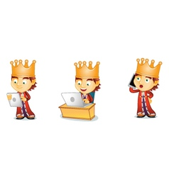 King 3 vector image vector image