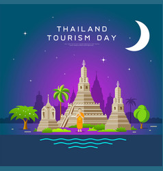 thailand tourism landmarks holy place vector image vector image
