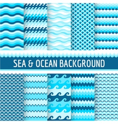 10 Seamless Nautical Backgrounds vector