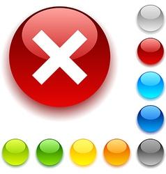 Abort button vector