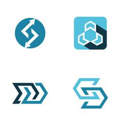 abstract arrow logo vector image