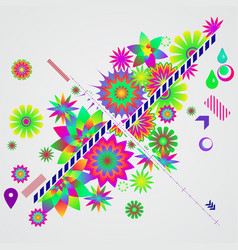 abstract background with different floral design vector image