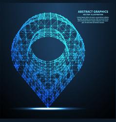 abstract pin vector image