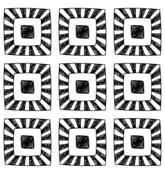 Abstract seamless hand drawn monochrome pattern vector image