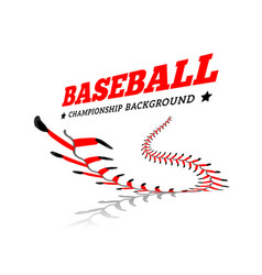 baseball background lace from a baseball on a vector image