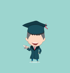 boy graduated pupils drawing by hand vector image