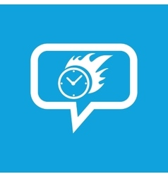 Burning clock message icon vector image