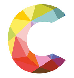 C colorful letter isolated on white background vector