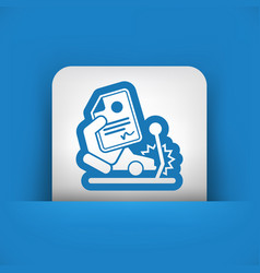 Car crash insurance vector