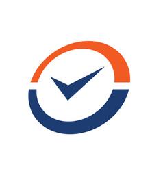 check mark or accept logo icon vector image