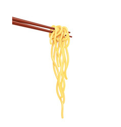 chinese noodles at chopsticks vector image