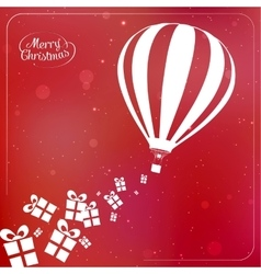Christmas background with present boxes ribbons vector image