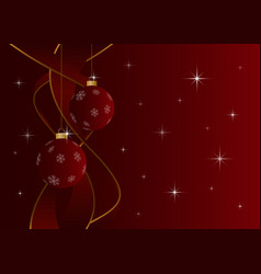 Christmas card without text - baubles and stars vector