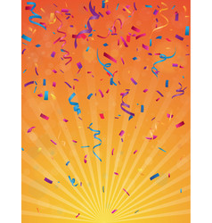colorful birthday celebration banner vector image