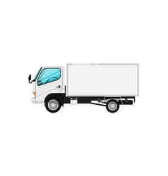 commercial delivery car isolated icon vector image