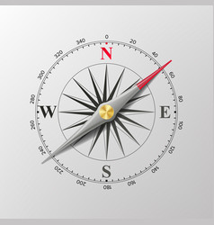 Compass wind rose isolated vector