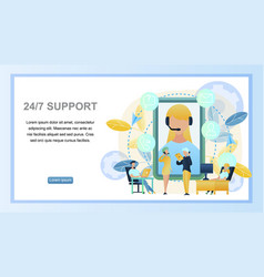 concept online 24to7 support customer vector image