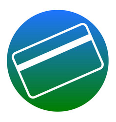 credit card symbol for download white vector image