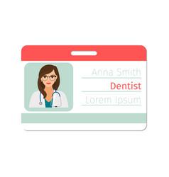 Dentist medical specialist badge vector