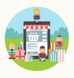 e-commerce online vector image