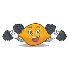 Fitness conchiglie pasta character cartoon vector