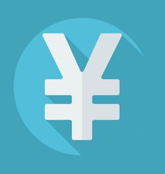 Flat modern design with shadow yen vector