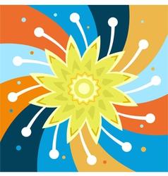 Flower spiral vector image